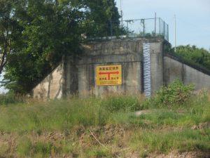新那珂川橋近くの境界線