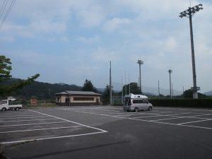 龍門淵公園の駐車場
