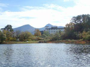 小野川湖の南西の端