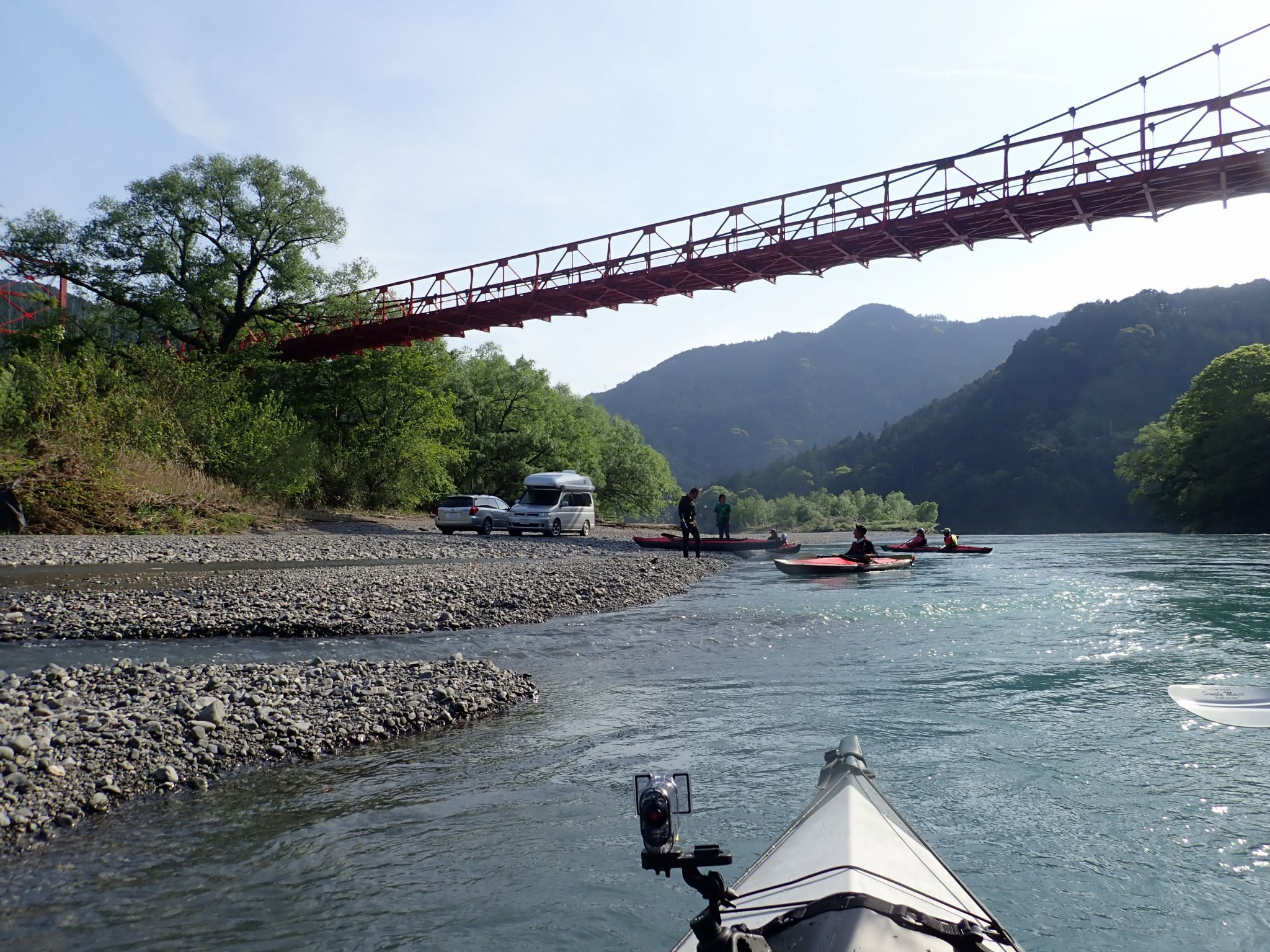 気田川橋(赤橋)