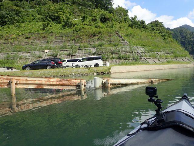 出艇場所(湖面から)