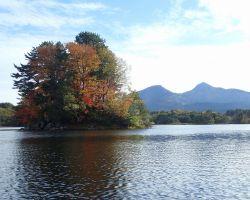 裏磐梯と小野川湖の浮き島