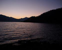 中禅寺湖畔ボートハウス 夕日