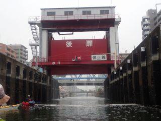 帰路 扇橋閘門 東側