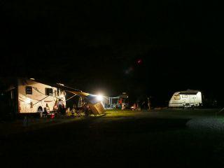 本栖湖キャンプ場 夜景