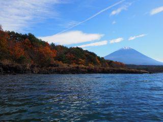 本栖湖 富士山 紅葉2