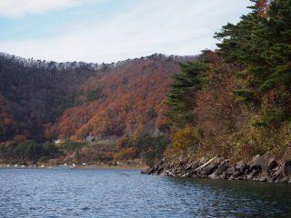 本栖湖 湖畔 紅葉2