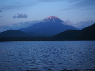 本栖湖 夕景